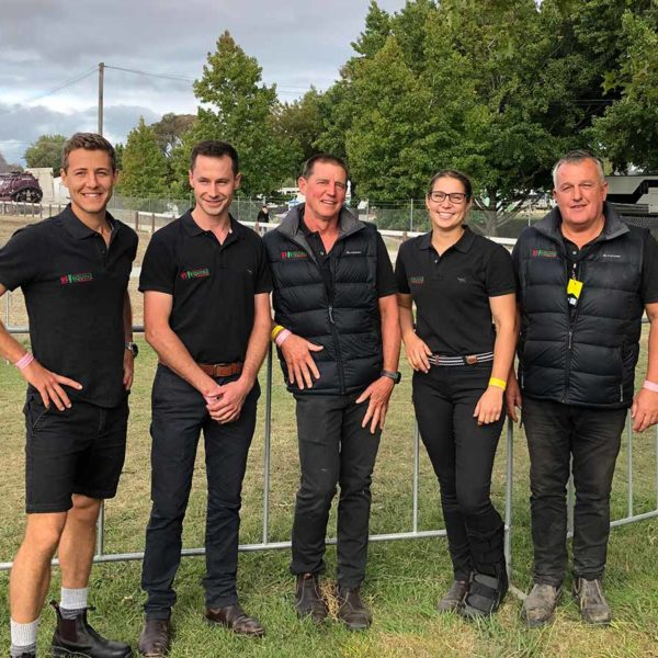 VS Equine Vets pictured from left to right Johnny Atkins (Dannevirke), Mike Fitzgerald (Waipukurau), Dave Kruger (Napier), Nicolette Adamson (Waipukurau), and Richard McKenzie (Hastings)